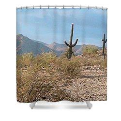 Saguaros On A Hillside Shower Curtain