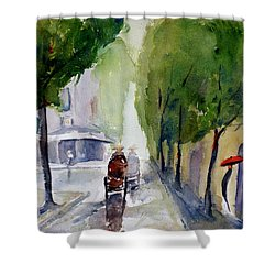 Saigon 1967 Tu Do Street Shower Curtain