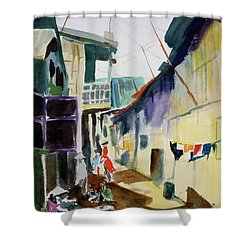 Saigon Alley Shower Curtain by Tom Simmons
