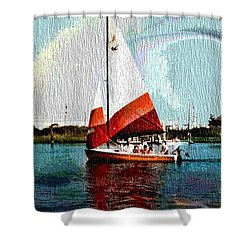 Sail Along On The Sea Shower Curtain