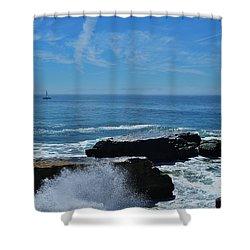 Sail And Surf Spray  Shower Curtain