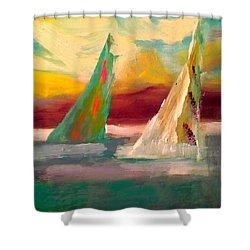 Sail Away 1 Shower Curtain