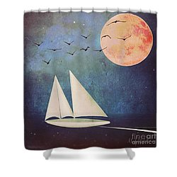 Sail Away Shower Curtain by Alexis Rotella