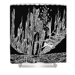 Sail Away Shower Curtain by Charles Cater