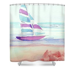 Shower Curtain featuring the painting Sail Away by Denise Fulmer