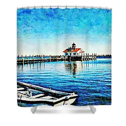 Shower Curtain featuring the painting Sail Away by Joan Reese