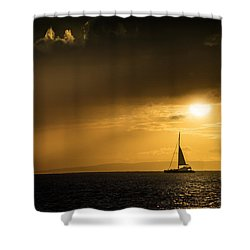 Shower Curtain featuring the photograph Sail Away Maui by Janis Knight