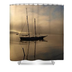 Sail Boat Shower Curtain by Trena Mara