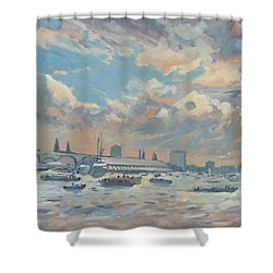 Sail Regatta On The Ij Shower Curtain
