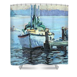 Sailboat At Rest Shower Curtain