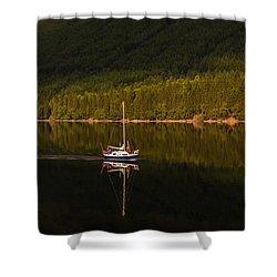 Sailboat In Sun Shower Curtain