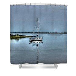 Sailboat Off Plash Shower Curtain
