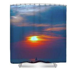 Sailboat Sunset Shower Curtain