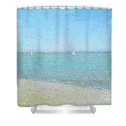 Sailboats At West Wittering Shower Curtain