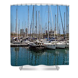 Shower Curtain featuring the photograph Sailboats Galore by Sue Melvin