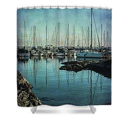 Marina - Digitally Textured Shower Curtain by Marilyn Wilson