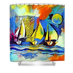 Sailboats Shower Curtain