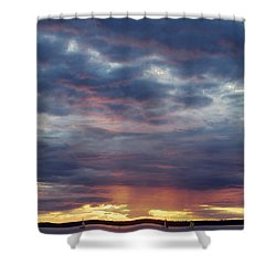 Sailboats On The Bay Shower Curtain by Elvira Butler