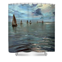 Sailboats On The Chesapeake Bay Shower Curtain