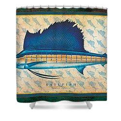 Sailfish Shower Curtain by Jon Q Wright