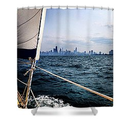 Sailing In Chicago Shower Curtain