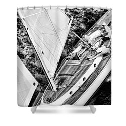 Sailing A Classic Shower Curtain