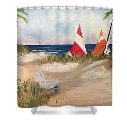 Sailing Along Shower Curtain