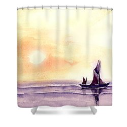 Sailing Shower Curtain by Anil Nene