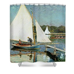 Sailing At Argenteuil Shower Curtain