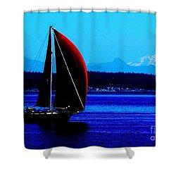 Sailing At Port Townsend Washington State Shower Curtain