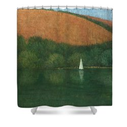 Sailing At Trelissick Shower Curtain by Steve Mitchell