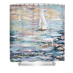 Sailing Away 2 Shower Curtain