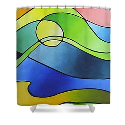 Sailing Away, Canvas Three Shower Curtain