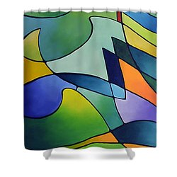 Sailing Away, Canvas One Shower Curtain