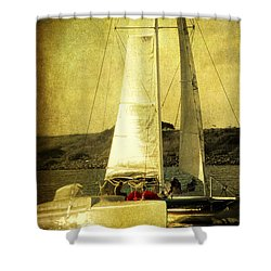 Sailing Away Shower Curtain by Susanne Van Hulst