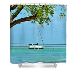 Sailing Away To Key Largo Shower Curtain