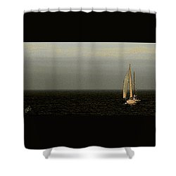 Shower Curtain featuring the photograph Sailing by Ben and Raisa Gertsberg