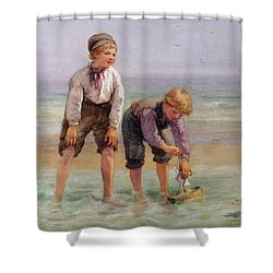 Sailing Boats  Shower Curtain by Edith Hume