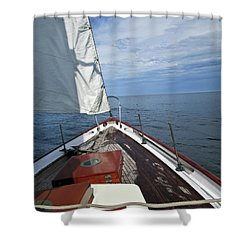Sailing Bow View Shower Curtain