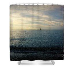 Sailing Cedar Shower Curtain