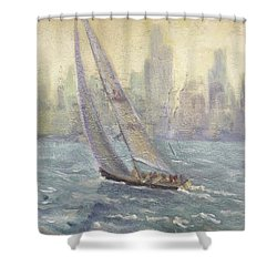 Sailing Chicago Shower Curtain
