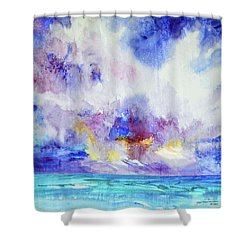 Sailing Cloud Shower Curtain by Joan Hartenstein
