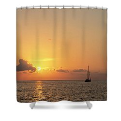 Crusing The Bahamas Shower Curtain