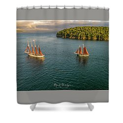 Sailing Frenchman Bay Shower Curtain