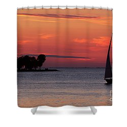 Sailing Home Shower Curtain by Joel Witmeyer