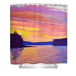 Sailing Home Sunset Shower Curtain