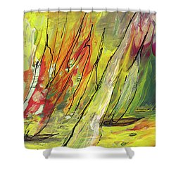 Sailing Impression 04 Shower Curtain by Miki De Goodaboom