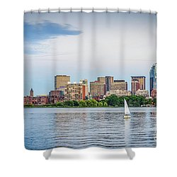 Sailing In Back Bay Shower Curtain