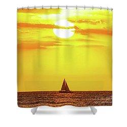 Sailing In Hawaiian Sunshine Shower Curtain
