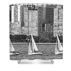 Sailing In New York Harbor No. 3-1 Shower Curtain